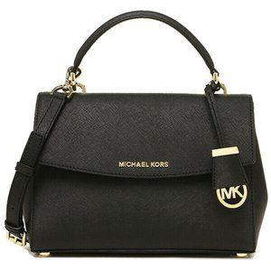 (NWT) Michael Kors Ava Black Leather Crossbody Bag
